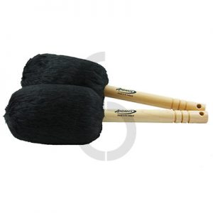 Andante Bass Drum Mallets (Black)