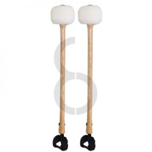 Chalklin Maple Shaft Marching Bass Drum Mallets (65mm Solid Felt)