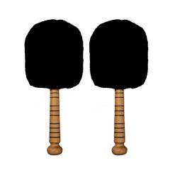 Steelo Jumbo Bass Drum Mallets (Black)