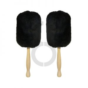 Twisted Thistle Medalist Bass Drum Mallets (Black)