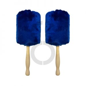 Twisted Thistle Medalist Bass Drum Mallets (Royal Blue)