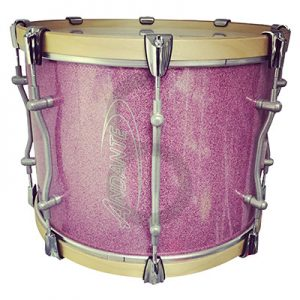 "Andante Pro Series 16"" x 12"" Tenor Drum (Pink Sparkle/Chromescent)"