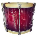 "Andante Pro Series 16"" x 12"" Tenor Drum (Red Sunburst/Ghost Chrome)"