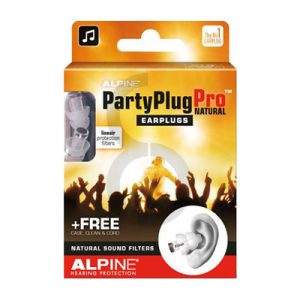 Alpine PartyPlug Pro Natural Earplugs