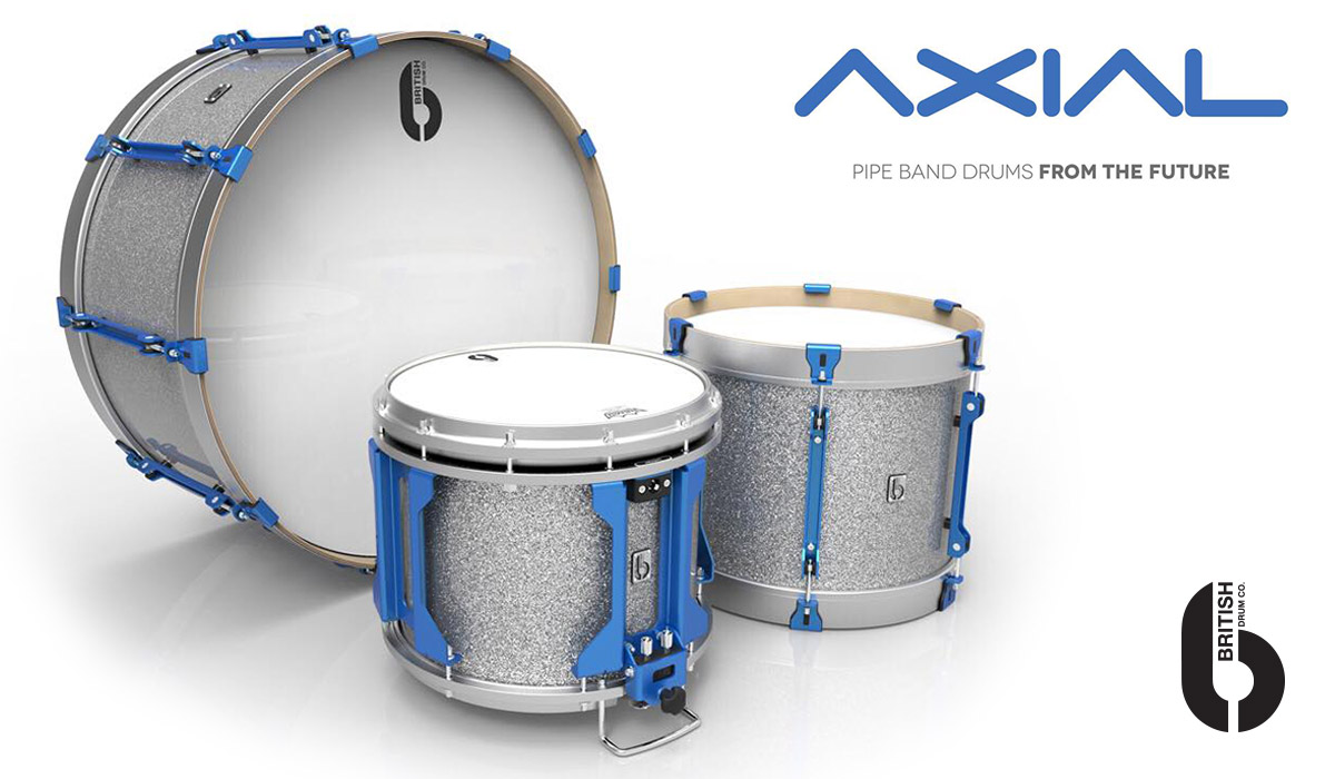 British Drum Co Unveils New AXIAL Pipe Band Drums