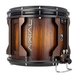British Drum Co AXIAL Snare Drum (Tigerwood Tobacco Burst/Antique Copper)