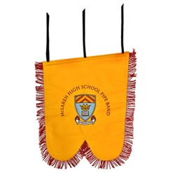Custom Embroidered Pipe Banner