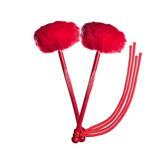 myTyFry Ultimate Custom Tenor Drum Mallets (Red/Red/Red)