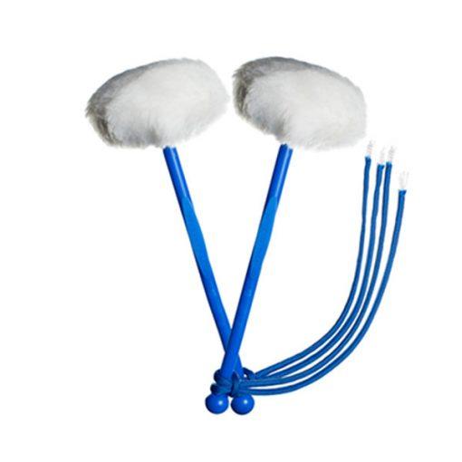 myTyFry Ultimate Custom Tenor Drum Mallets (White/Blue/Royal Blue)