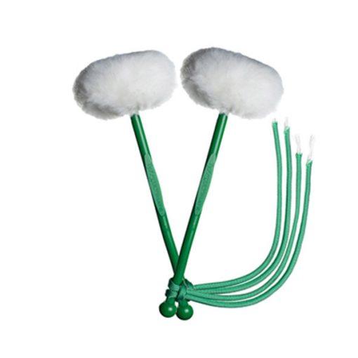 myTyFry Ultimate Custom Tenor Drum Mallets (White/Green/Emerald Green)