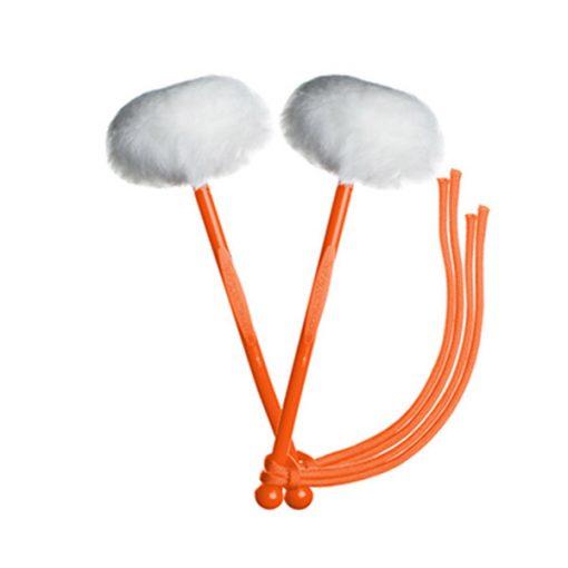 myTyFry Ultimate Custom Tenor Drum Mallets (White/Orange/Orange)