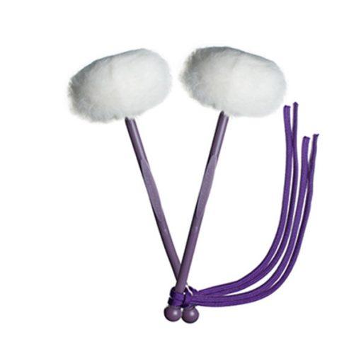 myTyFry Ultimate Custom Tenor Drum Mallets (White/Purple/Purple)