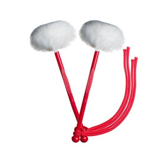 myTyFry Ultimate Custom Tenor Drum Mallets (White/Red/Red)