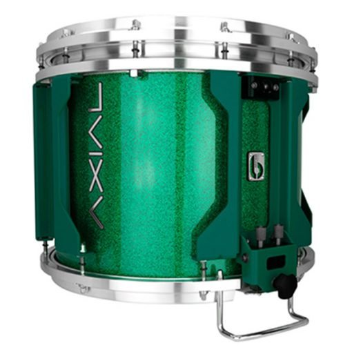 British Drum Co AXIAL Snare Drum (Cosmic Green Sparkle)