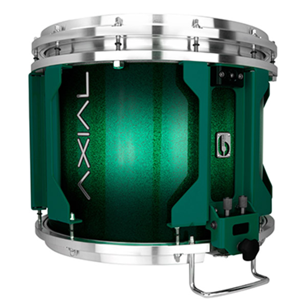 British Drum Co AXIAL Snare Drum (Cosmic Green Sparkle Burst)