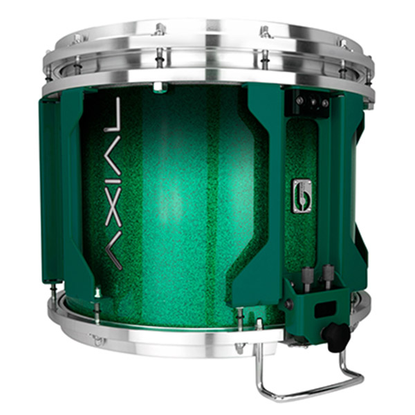 British Drum Co AXIAL Snare Drum (Cosmic Green Sparkle Fade)