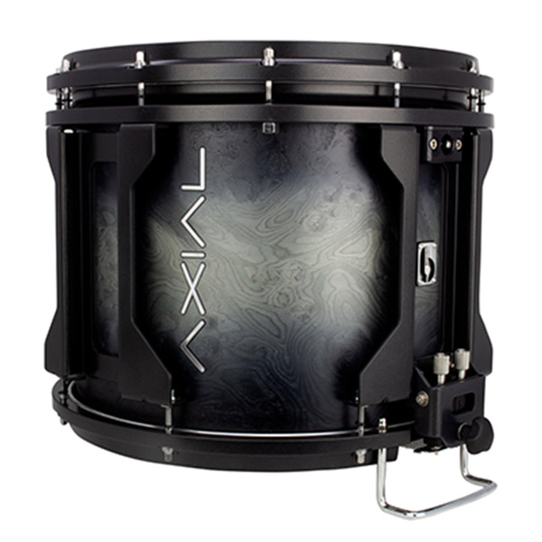 British Drum Co AXIAL Snare Drum (Sterling Silver Burst)