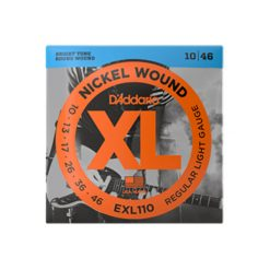 D'Addario EXL110 Nickel Wound Electric Guitar Strings (Regular Light 10-46)