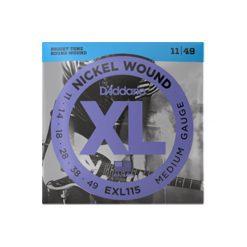 D'Addario EXL115 Nickel Wound Electric Guitar Strings (Medium 11-49)