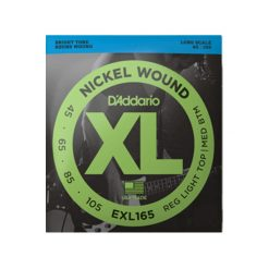 D'Addario EXL165 Nickel Wound Bass Guitar Strings (Custom Light 45-105 Long Scale)