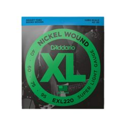 D'Addario EXL220 Nickel Wound Bass Guitar Strings (Super Light 40-95 Long Scale)